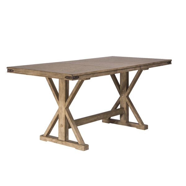 Rowtag Counter Height Extendable Dining Table by Loon Peak