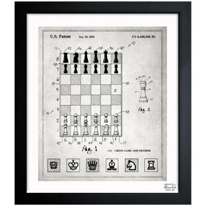 Chess Game and Method 2000 Framed Graphic Art by Oliver Gal