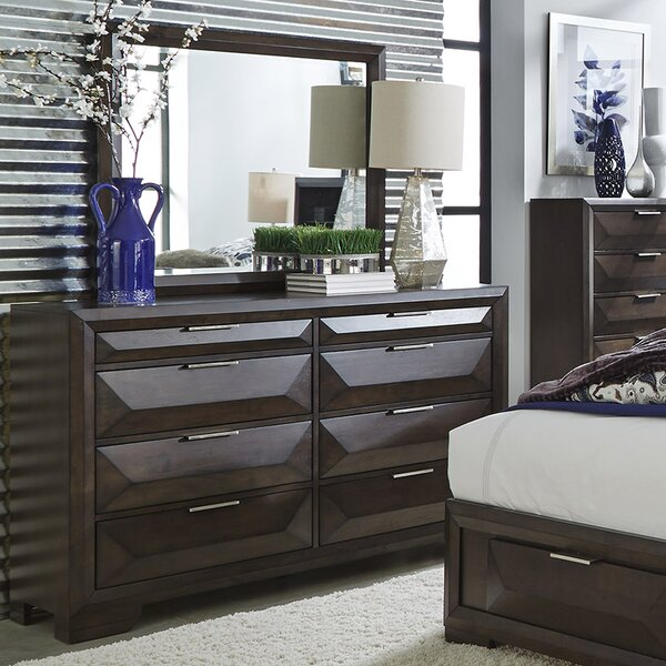 Richburg 8 Drawer Double Dresser with Mirror by Latitude Run