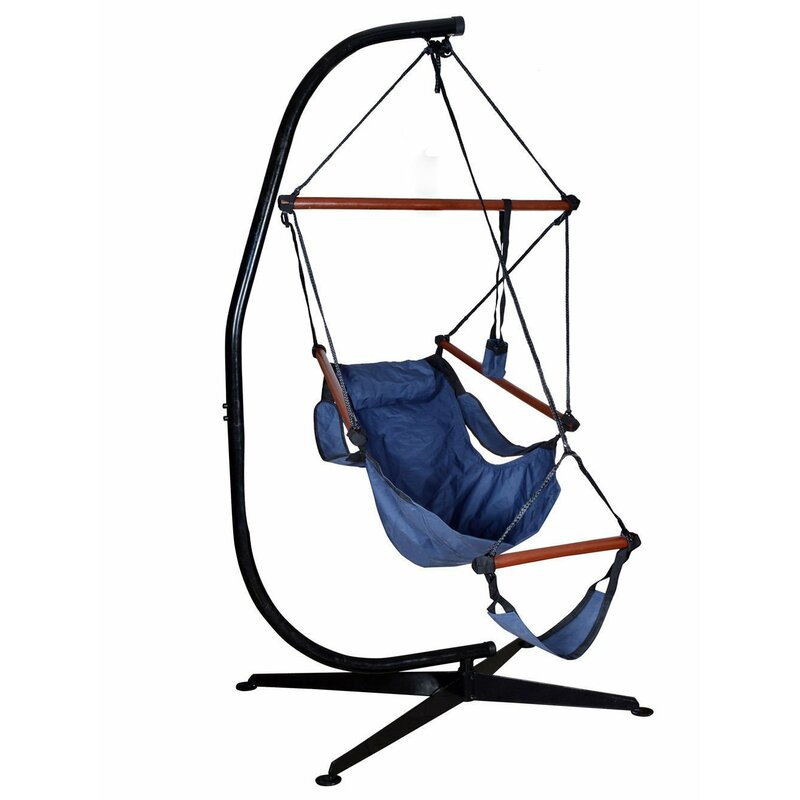 Algrenon Solid C Frame Metal Hammock Chair Stand