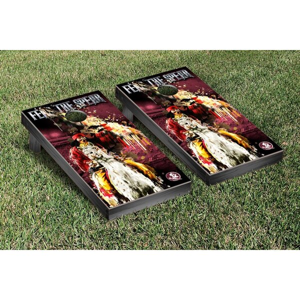 NCAA Florida State FSU Seminoles Fear The Spear Version 2 Cornhole Game Set by Victory Tailgate