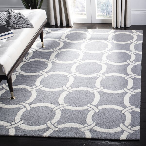 Shorehaven Gray/Ivory Area Rug by Beachcrest Home