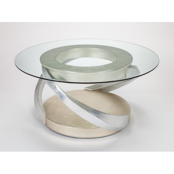 Solid Wood Abstract Coffee Table with Storage by Artmax Artmax