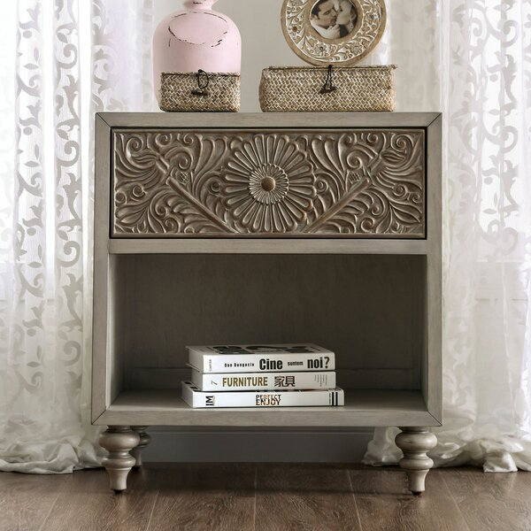 Zeller 1 Drawer Nightstand by Ophelia & Co.