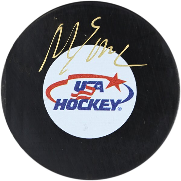Decorative Mike Eruzione Signed Team USA Puck by Steiner Sports