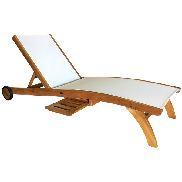 Annabel Reclining Teak Chaise Lounge