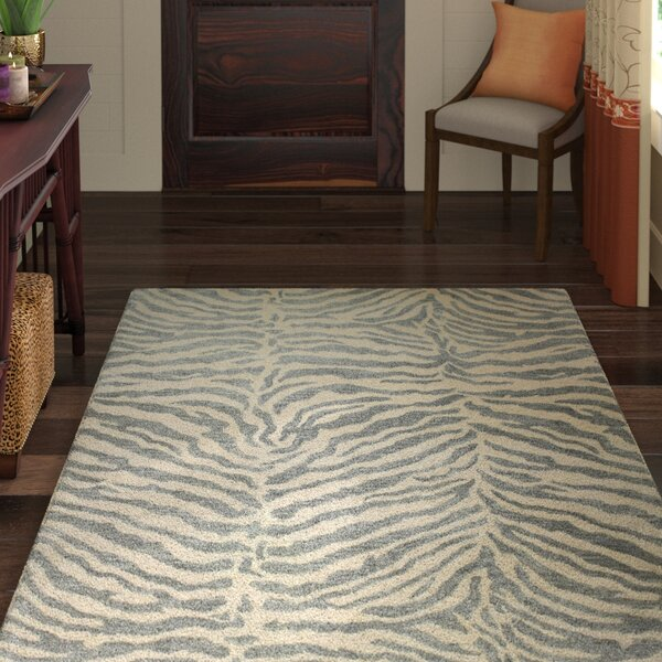 Sawgrass Hand-Tufted Light Blue Kids Area Rug by World Menagerie