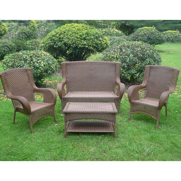 Dominic 4 Piece Rattan Sofa Seating Group Set by August Grove