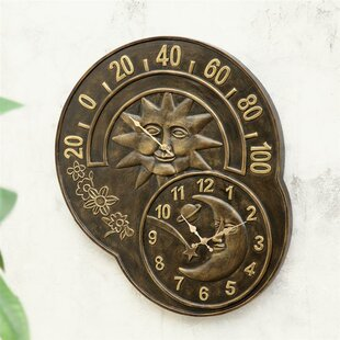 Sun and Moon Wall Clock by SPI Home