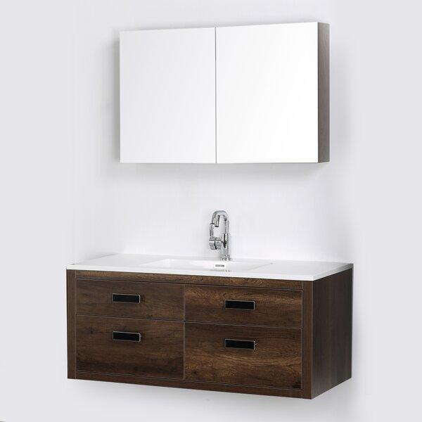 47 Wall Mounted Single Bathroom Vanity Set with Mirror by Streamline Bath
