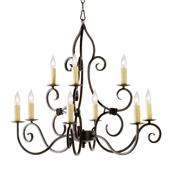 Lanoue 9 - Light Candle Style Tiered Chandelier by Fleur De Lis Living Fleur De Lis Living