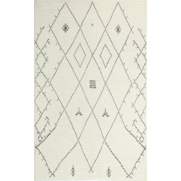 Floressa Hand-Knotted Ivory Area Rug by Bungalow Rose