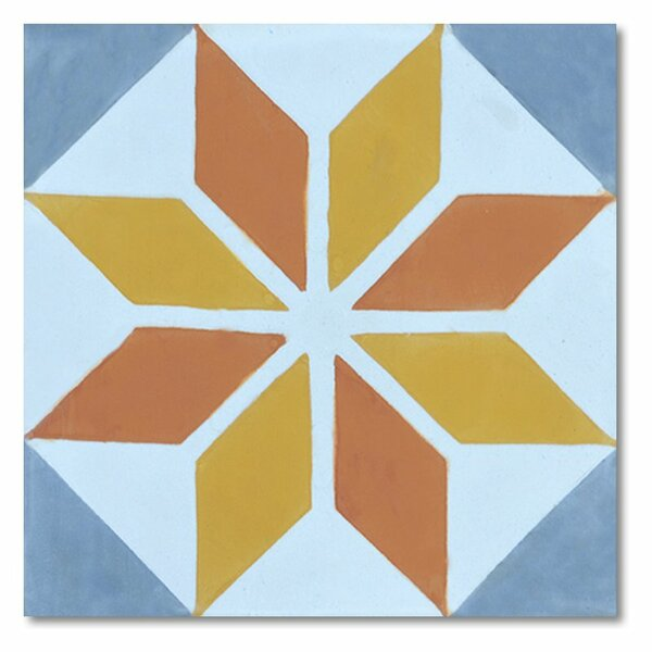 Assila 8 x 8 Handmade Cement Tile in Multi-Color by Moroccan Mosaic
