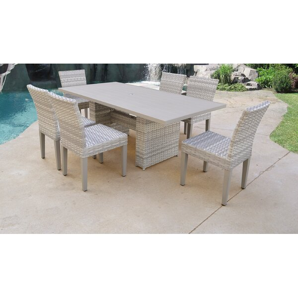 Fairmont 7 Piece Outdoor Patio Dining Set with Cushions by TK Classics