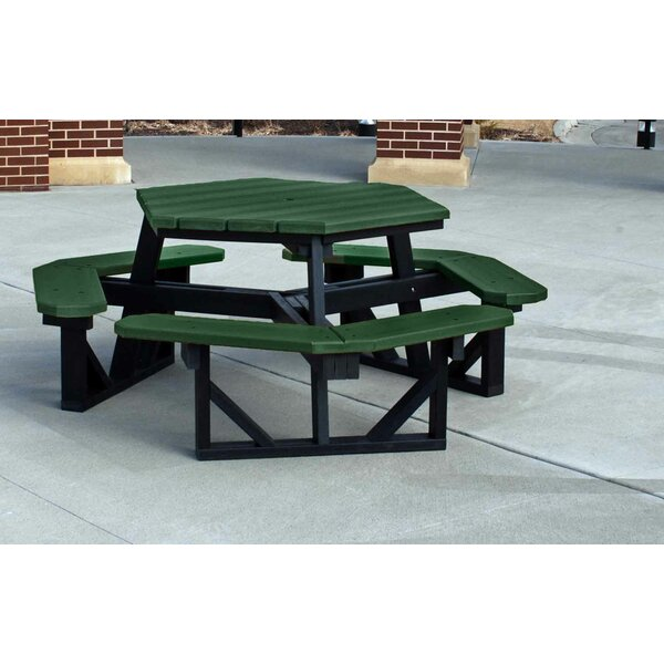 Recycled Plastic Hex Picnic Table by Frog Furnishings