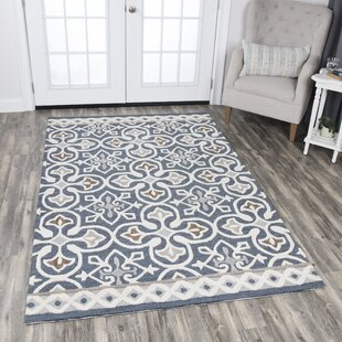 Nordmeyer Hand Tufted Blue/Gray Area Rug