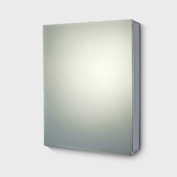 Bjorn Edge Mirror Door 36 x 15 Surface Mount Frameless Medicine Cabinet with 2 Adjustable Shelves by Symple Stuff