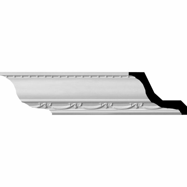 Federal 3H x 94 1/2W x 3 5/8D Crown Moulding by Ekena Millwork