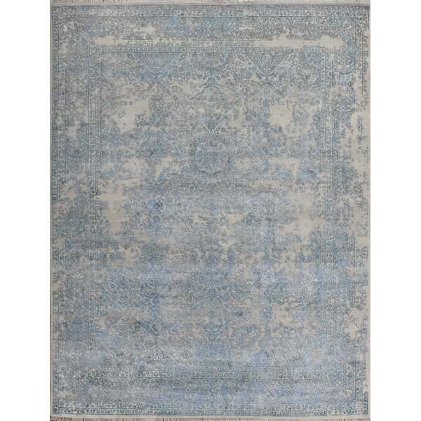 Hand-Knotted Beige Area Rug by Pasargad