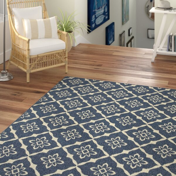 Kailani Blue Geometric Indoor/Outdoor Area Rug by Beachcrest Home
