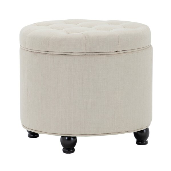 Forst 19.7'' Tufted Round Storage Ottoman by Charlton Home Charlton Home