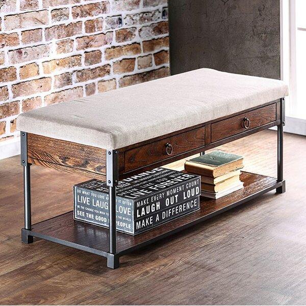 Celestine Industrial Design Storage Bench by 17 Stories