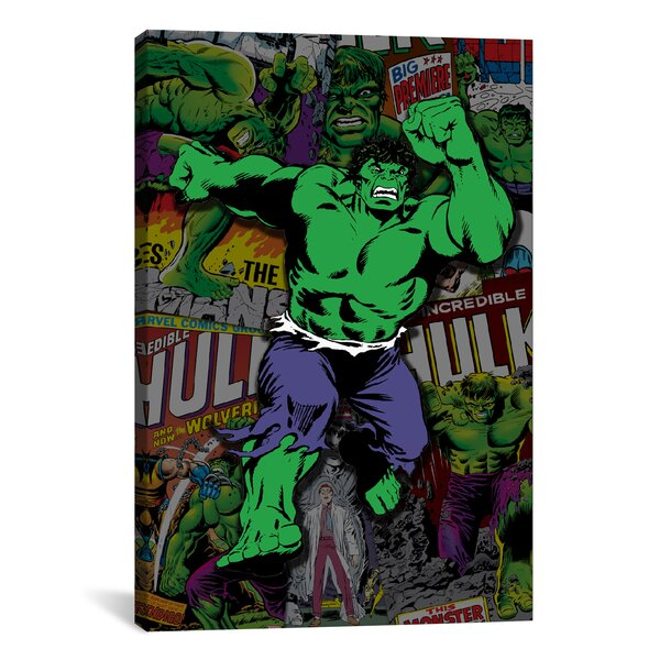 Marvel Comics Hulk Cover Collage Graphic Art on Wrapped Canvas by iCanvas