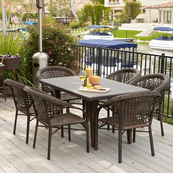 Donelson 7 Piece Outdoor Dining Set by Rosecliff Heights