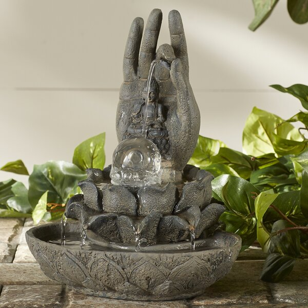 Polyresin Peaceful Lotus Fountain by Zingz & Thingz