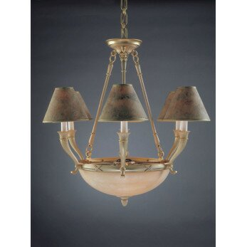 Palma 9 - Light Shaded Empire Chandelier By Zanin Lighting Inc.