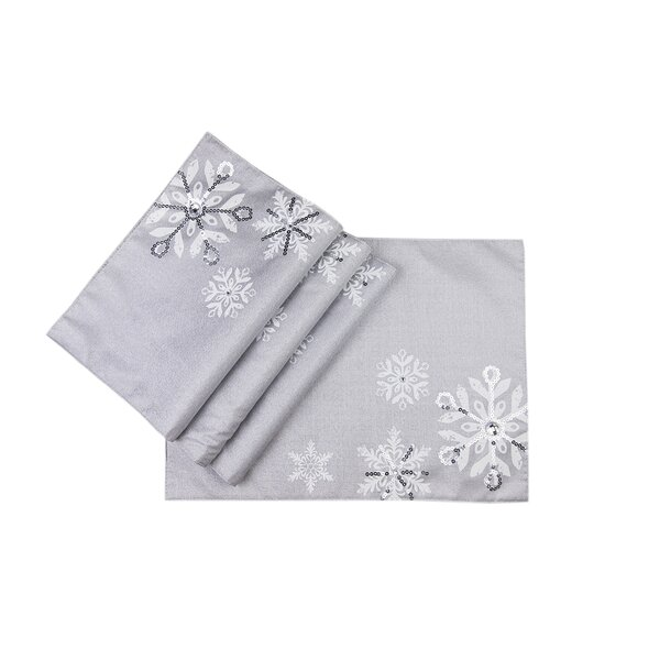 Glistening Snow Placemat (Set of 4) by Manor Luxe