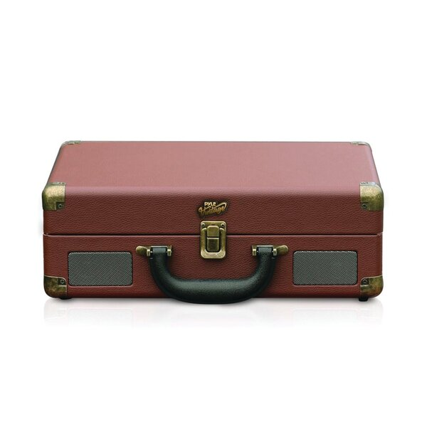 Bluetooth Vintage Briefcase-Style Turntable Speake