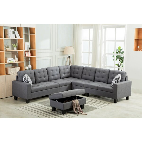 Ridgeway Modular Sectional with Ottoman by Ebern Designs