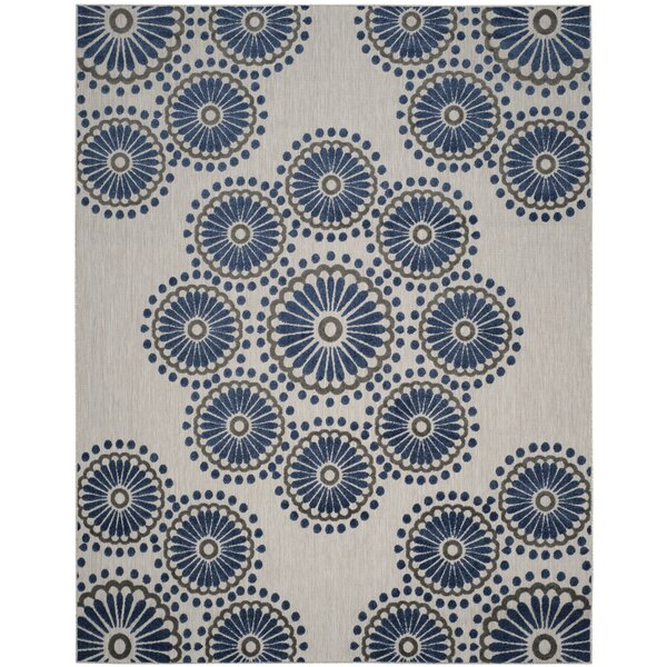 Timbia Cream/Blue Area Rug by Bungalow Rose