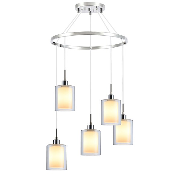 Pittsfield 5 - Light Shaded Tiered Chandelier by Ivy Bronx Ivy Bronx
