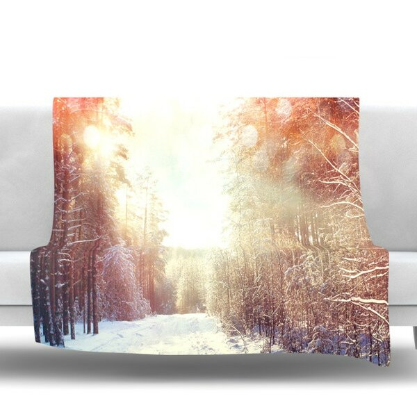 Winter Walkway by Snap Studio Fleece Throw Blanket by KESS InHouse