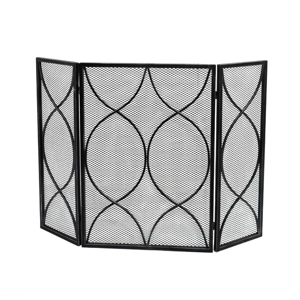 David 3 Panel Iron Fireplace Screen By Home Loft Concepts