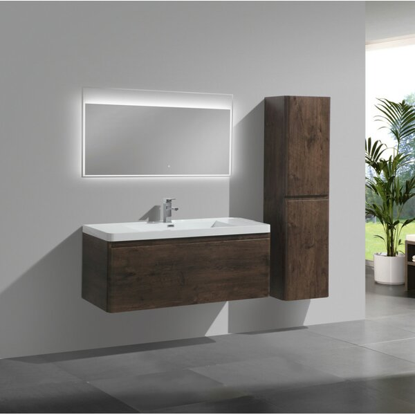 Burchette 47 Wall-Mounted Single Bathroom Vanity Set by Wrought Studio