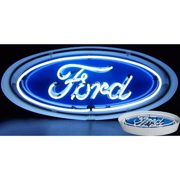 Ford Oval Neon Sign by Neonetics