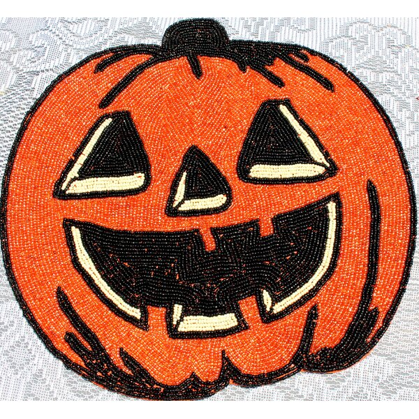 Pumpkin Design Placemat (Set of 6) by The Holiday Aisle