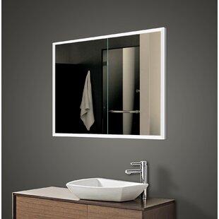 Bargain Alfredson 35.5 x 27.63 Recessed Framed Medicine Cabinet with 2 Adjustable Shelves and LED Lighting ByOrren Ellis