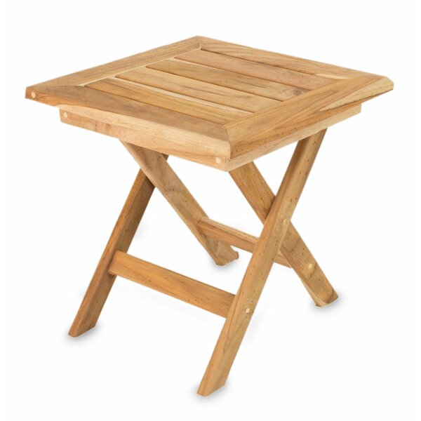 Mexican Folding Teak Side Table by Novica