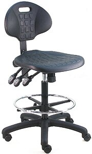 Cleanroom Lab Upholstered Swivel Drafting Chair by Symple Stuff