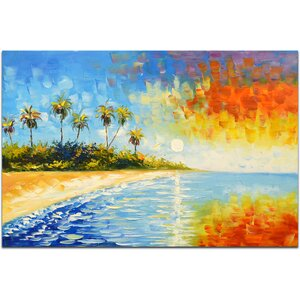 Blissful Paradise Painting on Canvas by Omax Decor