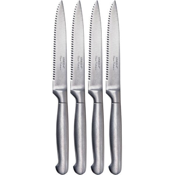 Cutlery Plain Pistol Handle Steak Knife Set (Set of 4) by Oneida