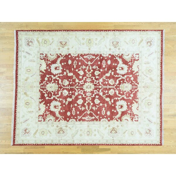 One-of-a-Kind Bearfield Handwoven Red Wool Area Rug by Isabelline