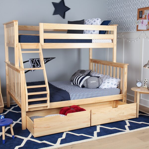 Borgen Bunk Bed with Drawers by Harriet Bee