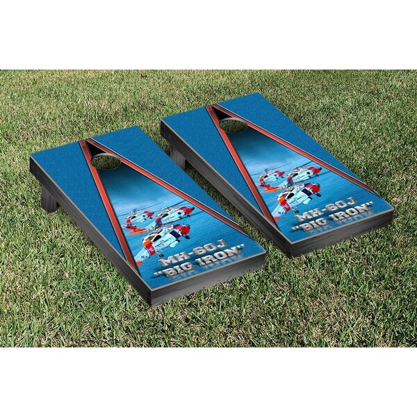 NCAA US Coast Guard MH 60 Version Cornhole Game Set by Victory Tailgate