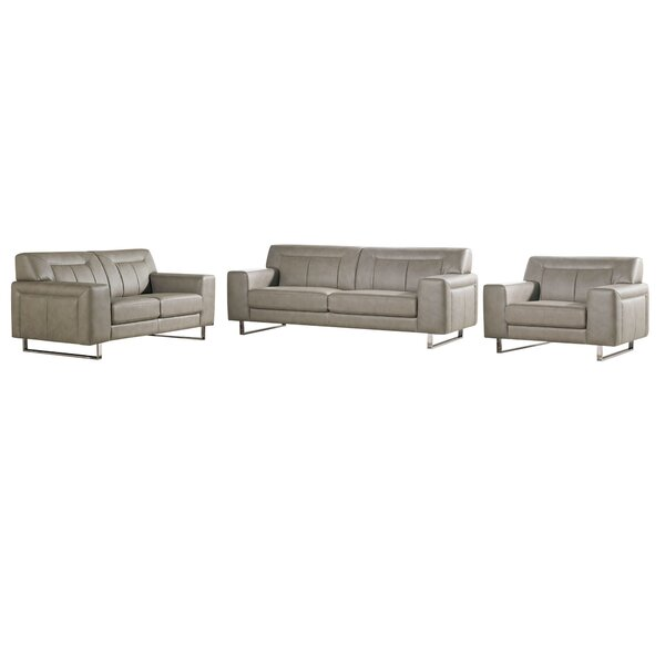 Vera 3 Piece Living Room Set by Diamond Sofa