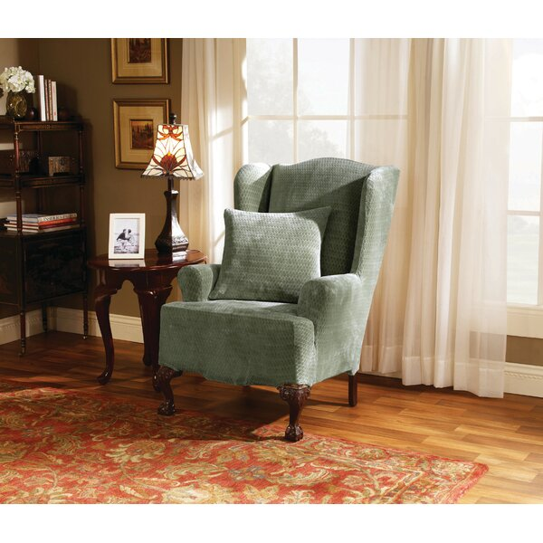 Compare Price Strech Royal Diamond T-Cushion Wingback Slipcover